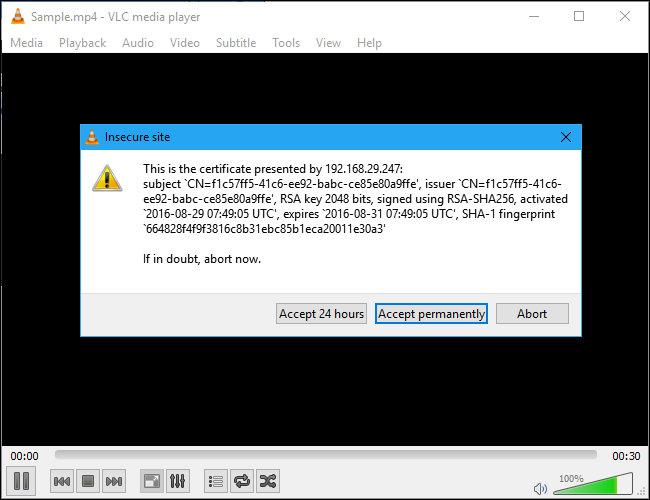 vlc-accept-permanently