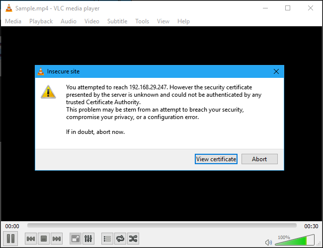 vlc-view-certificate